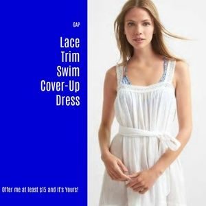 NWT GAP Lace Trim Cover-Up Dress (Z24)